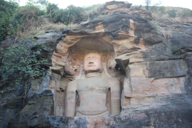 yogi in a cave
